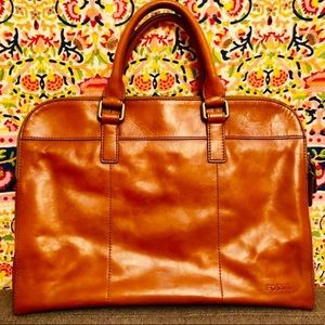 Fossil Men's Leather briefcase